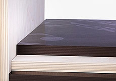 Фанера березовая, ФСФ, Е1, ламинированная, формат: 1500*3000 мм