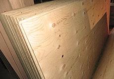 Фанера хвойная 30мм - сорт II/III. 2440*1220 мм нешлифованная