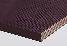 Фанера березовая 15 мм, ФСФ, ламинированная, 2440*1220 мм - F/W (гладкая/сетка)